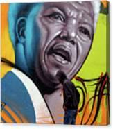 Mandela Watching Canvas Print