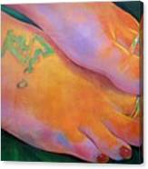 Mandy Toes Orange Canvas Print