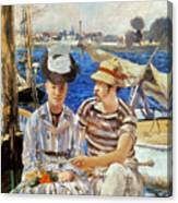 Manet: Boaters, 1874 Canvas Print
