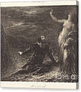 Manfred And Astarte (2nd Plate) Canvas Print
