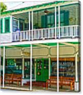 Mangia Mangia Pasta Market And Cafe On Key West Florida Canvas Print