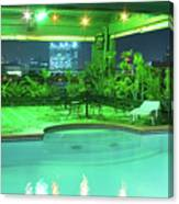 Mango Park Hotel Roof Top Pool Canvas Print