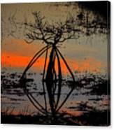 Mangrove Silhouette Canvas Print