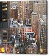 Manhattan At Dusk Canvas Print