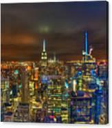 Manhattan At Night 355 Canvas Print