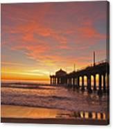 Manhattan Beach Sunset Canvas Print
