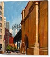 Manhattan Bridge From  Front Street, Brooklyn Canvas Print