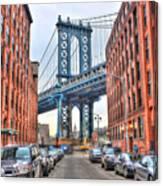 Manhattan Bridge Landscape From Dumbo Canvas Print