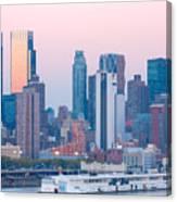 Manhattan Cruise Terminal And Skyline Canvas Print