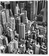 Manhattan In Monochrome. Canvas Print