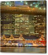 Manhattan Night Skyline I Canvas Print