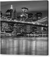 Manhattan Night Skyline Iv Canvas Print