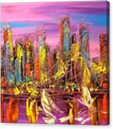 Manhattan Purple By Mark Kazav Canvas Print