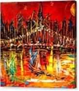 Manhattan Red Canvas Print