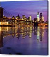Manhattan Reflection Canvas Print