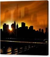 Manhattan Silhouette Canvas Print