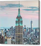 Manhattan Skyline Panoramic, New York City, Usa Canvas Print