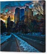 Manhattan Sunset Canvas Print