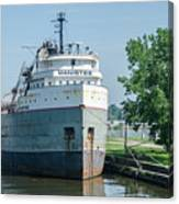 Manistee In Layup At Toledo Canvas Print