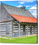 Manistique Schoolcraft County Museum Log Cabin -2158 Canvas Print