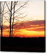 Manitoba Sunset Canvas Print