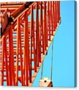 Manitowoc Red Boom Block And Hook Canvas Print