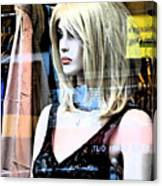 Mannequin Window 4 Canvas Print