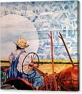 Manny During Wheat Harvest Canvas Print