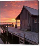 Manteo Waterfront Fisherman's Net House North Carolina Obx Canvas Print