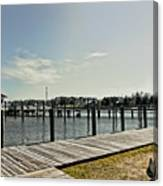 Manteo Waterfront Canvas Print