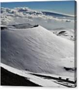 Mauna Kea Dressed In Snow Canvas Print