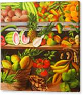 Manuel And His Fruit Stand Canvas Print