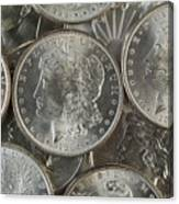 Many American Silver Dollars  Canvas Print