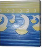 Many Sailing Boats On The Sea Canvas Print