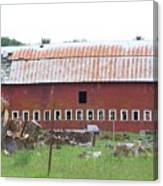 Many Windowed Barn  Washington State Canvas Print