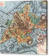 Map: Boston, C1880 Canvas Print