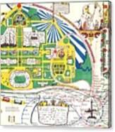 Map British Empire Exhibition Wembley Park London 1924 Canvas Print
