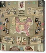 Map: Confederate States Canvas Print