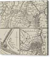 Map Illustrating General Lee's Advance Into Pennsylvania  Canvas Print