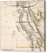 Map Of Aegyptus Antiqua Canvas Print
