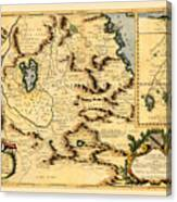 Map Of Africa 1690 Canvas Print
