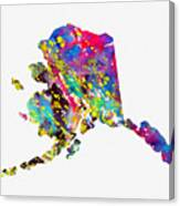 Map Of Alaska-colorful Canvas Print