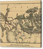 Map Of Arizona 1857 Canvas Print