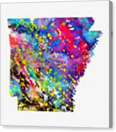Map Of Arkansas-colorful Canvas Print
