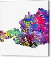 Map Of Austria-colorful Canvas Print