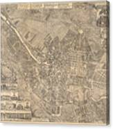 Map Of Berlin Showing Buildings Of Interest, 1773 Canvas Print