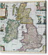 Map Of Britain Canvas Print