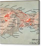 Map Of Capri 1909 Canvas Print