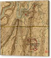 Map Of Chattanooga 1895 Canvas Print