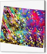 Map Of Colorado-colorful Canvas Print